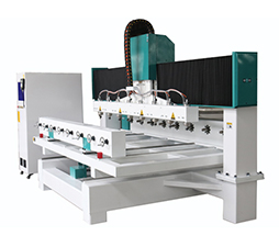 3D CNC Router For Woodworking With Rotary And 8 Spindles